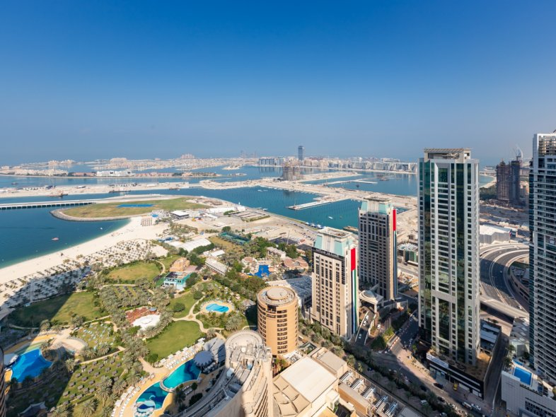 Panoramic Sea and Palm View Penthouse in Trident Grand
