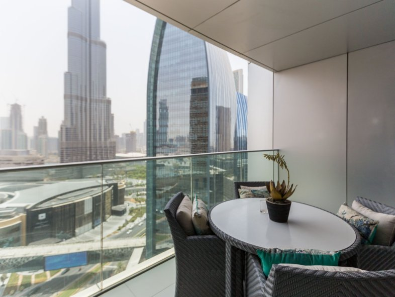 Upgraded 2 bedrooms apartment in Address BLVD, Burj view