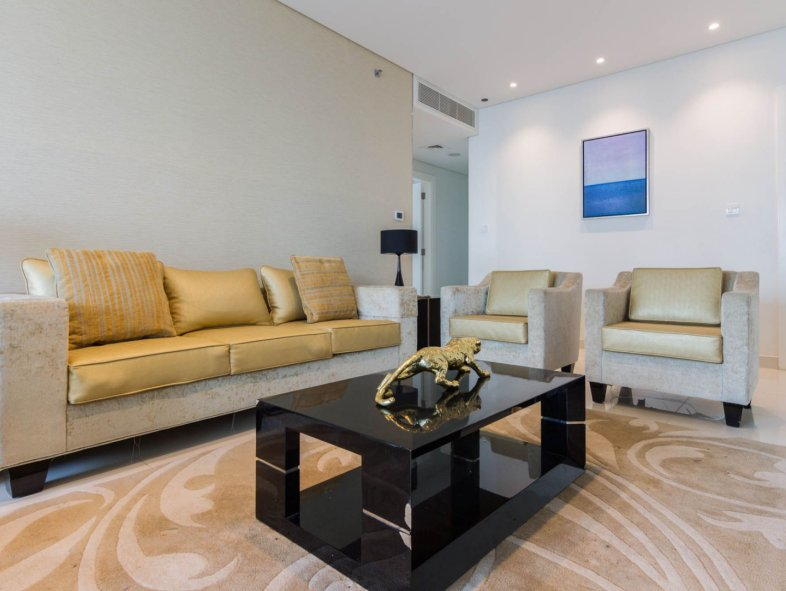 Fully Furnished 3 Bed + Maid's Apartment with Canal View