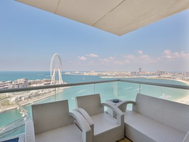 Rare 4 bedroom at Al Bateen Residences with full sea view