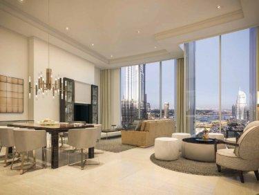3 Bedroom with Fountain & Burj Khalifa Views