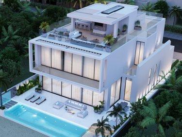 Modern villa-5 car basement-200sqm roof lounge